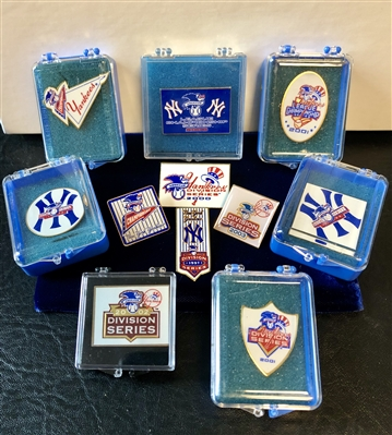 New York Yankees Rare Instant Collection Of Official Playoff Press Pins
