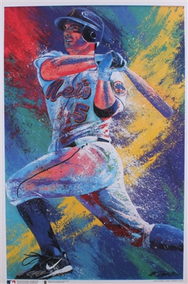 New York Mets David Wright Lithograph Signed By Artist Bill Lopa