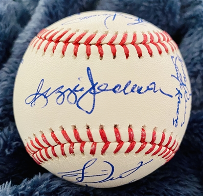 New York Yankees 1978 World Series Team Signed Baseball ( Reggie Jackson On The Sweet Spot)