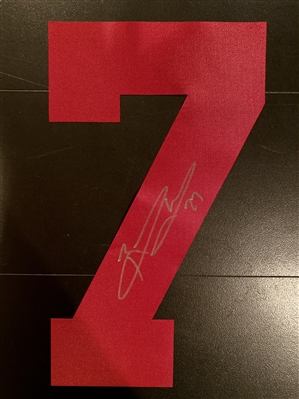 New York Giants Former Running Back Brandon Jacobs Signed Red #7