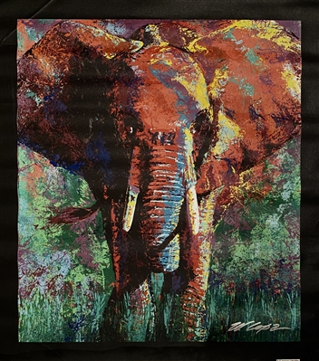 India Elephant Painting On Canvas By Artist Bill Lopa