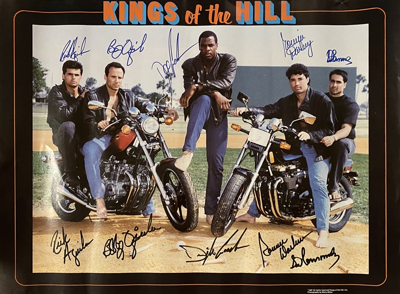 New York Mets 1986 World series Champs Kings Of The Hill Signed By Doc Gooden, Rick Aguilera, Bob Ojeda, Ron Darling,Syd Fernandez