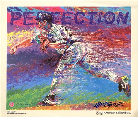 New York Yankees David Cone Perfection Lithograph Signed By The Artist Bill Lopa Limited Edition