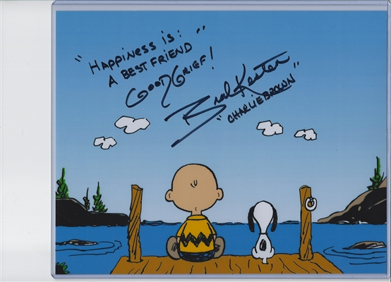 "Brad Kesten The Voice Of Charlie Brown Signed 8x10 Photo - ""Happiness Is A Best Friend Good Grief"""