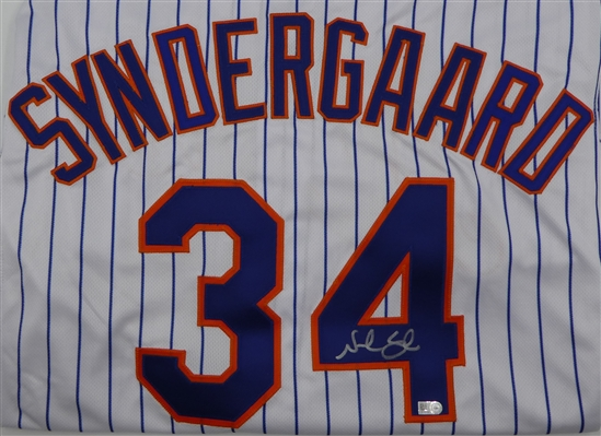 Noah Syndergaard Autographed White New York Mets Jersey