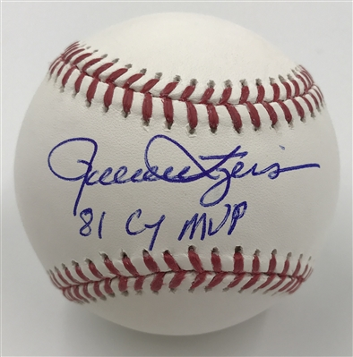 "Milwaukee Brewers Rollie Fingers ""81 CY/MVP"" Autographed Baseball"