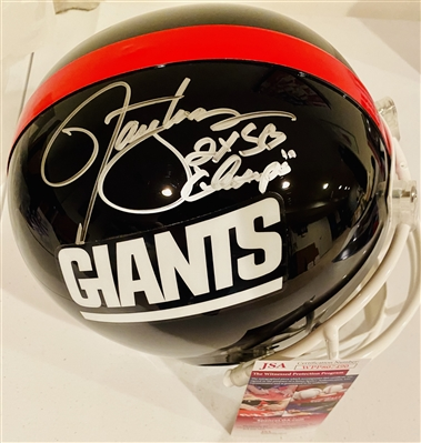 NY GIANT LAWRENCE TAYLOR HAND SIGNED Full Sized Helmet, JSA