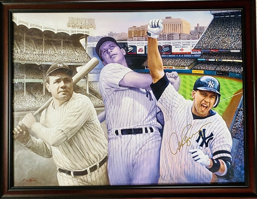 Babe Ruth, Mickey Mantle, Alex Rodriquez Original Art By Doo S. Oh