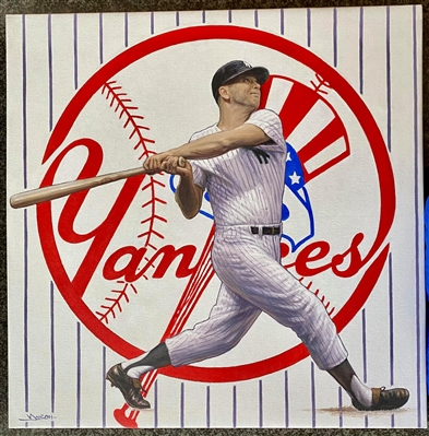 Mickey Mantle Original Sports Art On Canvas by artist Doo S. Oh