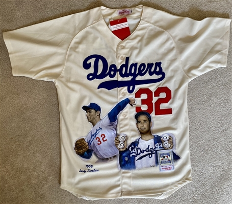 Sandy Koufax Hand Painted Jersey by Artist Doo S. Oh